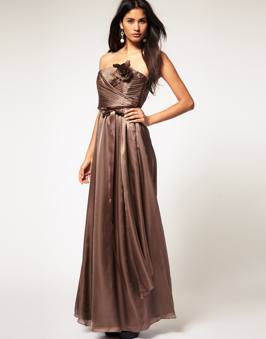 Coast Maxi Chocolate Dress